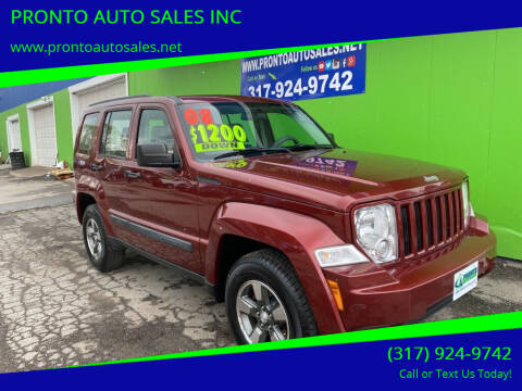 2008 Jeep Liberty for sale at PRONTO AUTO SALES INC in Indianapolis IN
