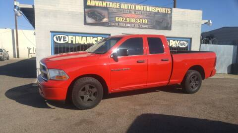 2012 RAM Ram Pickup 1500 for sale at Advantage Auto Motorsports in Phoenix AZ