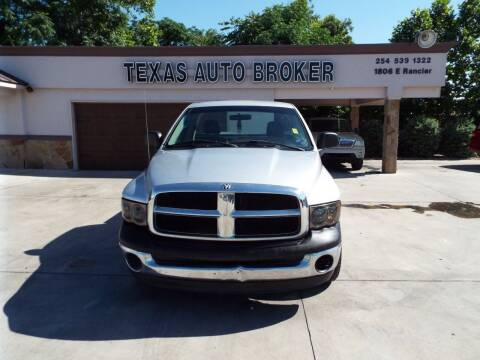 2005 Dodge Ram Pickup 1500 for sale at Texas Auto Broker in Killeen TX