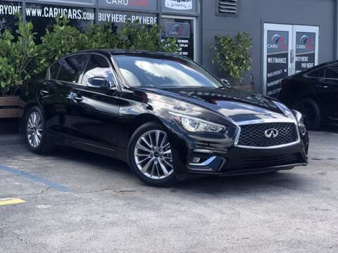 2021 Infiniti Q50 for sale at CARUCARS LLC in Miami FL