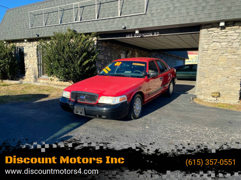 2003 Ford Crown Victoria for sale at Discount Motors Inc in Old Hickory TN