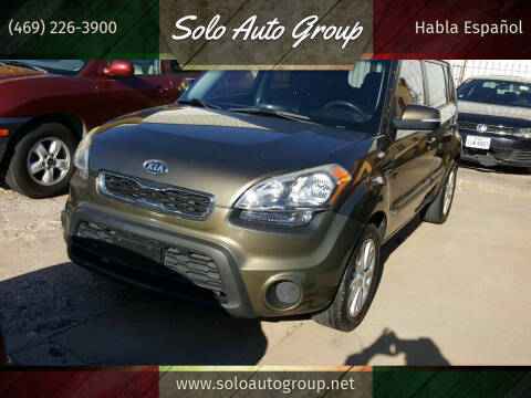 2012 Kia Soul for sale at Solo Auto Group in Mckinney TX