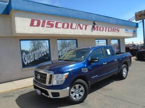 2017 Nissan Titan for sale at Discount Motors in Pueblo CO