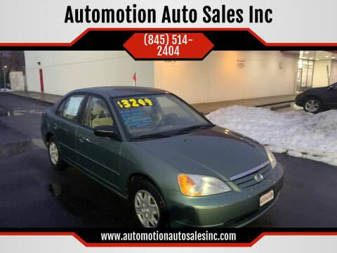 2003 Honda Civic for sale at Automotion Auto Sales Inc in Kingston NY