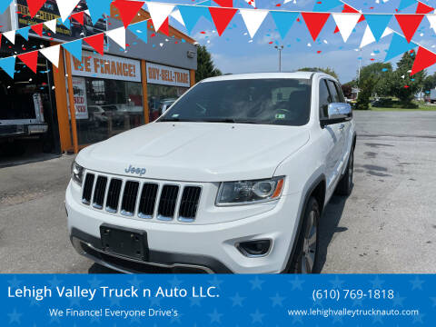 2014 Jeep Grand Cherokee for sale at Lehigh Valley Truck n Auto LLC. in Schnecksville PA