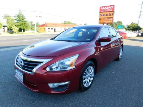 2015 Nissan Altima for sale at Cars 4 Less in Manassas VA