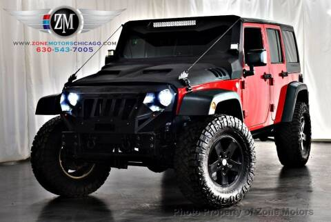 2014 Jeep Wrangler Unlimited for sale at ZONE MOTORS in Addison IL