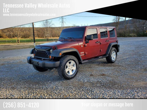 2007 Jeep Wrangler Unlimited for sale at Tennessee Valley Wholesale Autos LLC in Huntsville AL