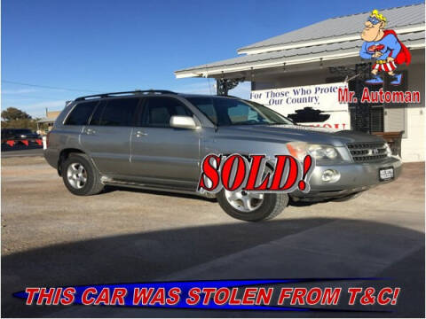 2001 Toyota Highlander for sale at TOWN & COUNTRY AUTO SALES in Overton NV