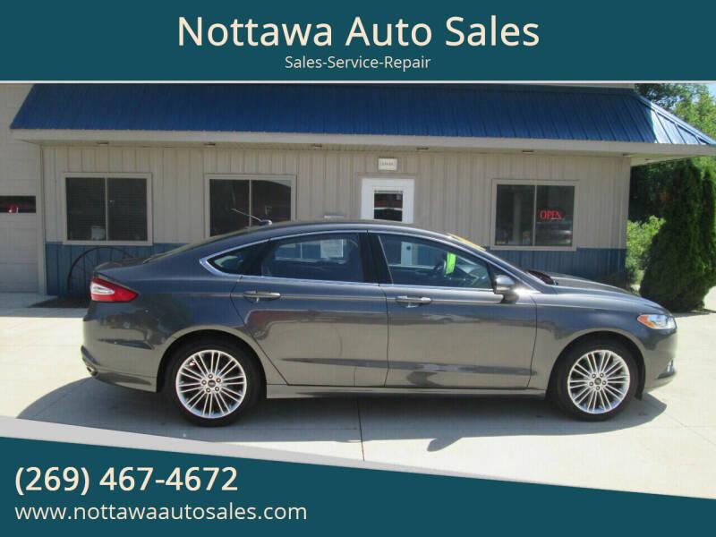 2016 Ford Fusion for sale at Nottawa Auto Sales in Nottawa MI