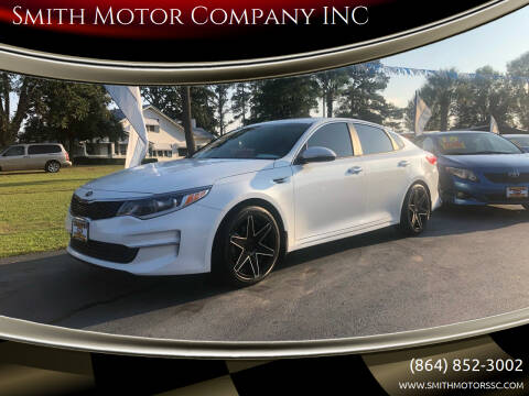 2016 Kia Optima for sale at Smith Motor Company INC in Mc Cormick SC