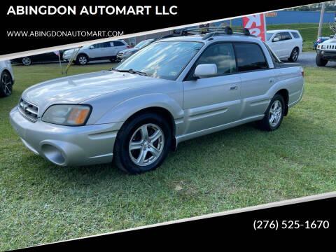 2003 Subaru Baja for sale at ABINGDON AUTOMART LLC in Abingdon VA
