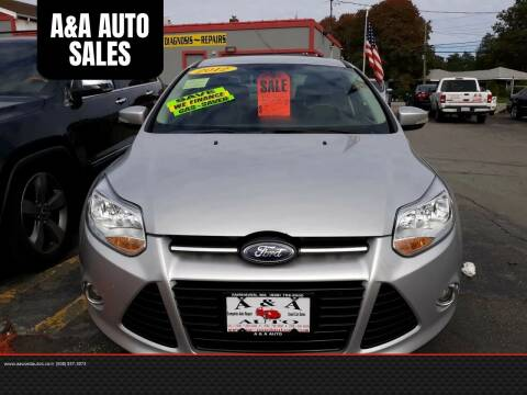 2012 Ford Focus for sale at A&A AUTO in Fairhaven MA