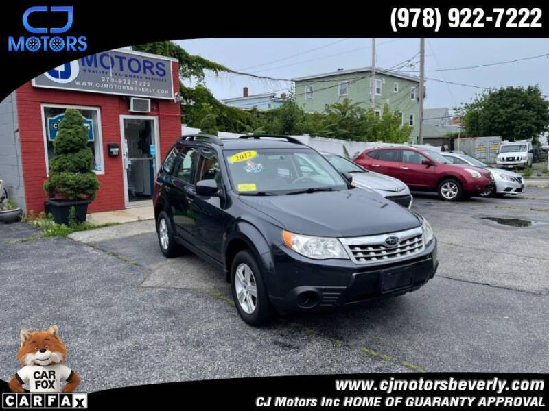 2012 Subaru Forester for sale at CJ Motors Inc. in Beverly MA