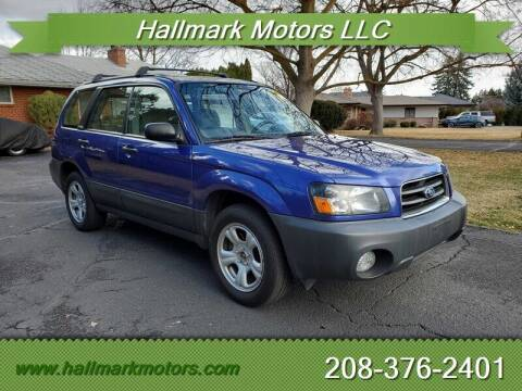 2003 Subaru Forester for sale at HALLMARK MOTORS LLC in Boise ID