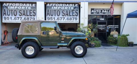 1998 Jeep Wrangler for sale at Affordable Imports Auto Sales in Murrieta CA