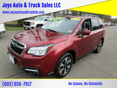 2017 Subaru Forester for sale at Jays Auto & Truck Sales LLC in Loudon NH