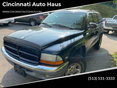 1999 Dodge Durango for sale at Cincinnati Auto Haus in Cincinnati OH