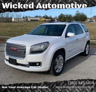 2016 GMC Acadia for sale at Wicked Automotive in Fort Wayne IN