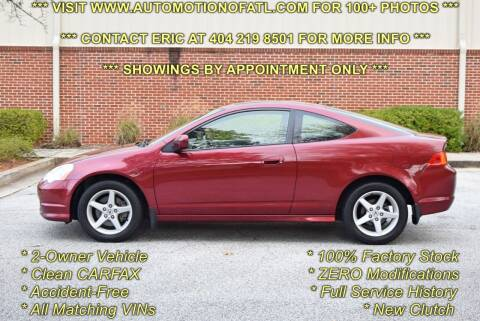 2003 Acura RSX for sale at Automotion Of Atlanta in Conyers GA