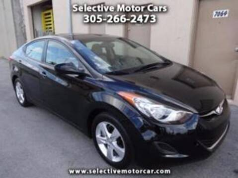 2012 Hyundai Elantra for sale at Selective Motor Cars in Miami FL