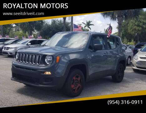 2018 Jeep Renegade for sale at ROYALTON MOTORS in Plantation FL