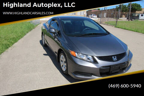 2012 Honda Civic for sale at Highland Autoplex, LLC in Dallas TX