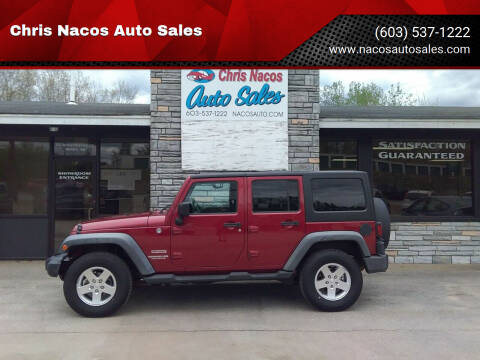 2012 Jeep Wrangler Unlimited for sale at Chris Nacos Auto Sales in Derry NH