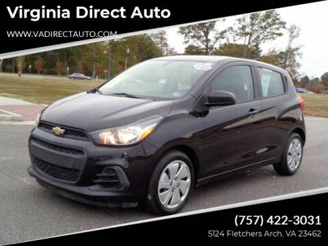 2016 Chevrolet Spark for sale at Virginia Direct Auto in Virginia Beach VA