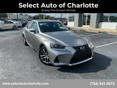 2019 Lexus IS 300 for sale at Select Auto of Charlotte in Matthews NC