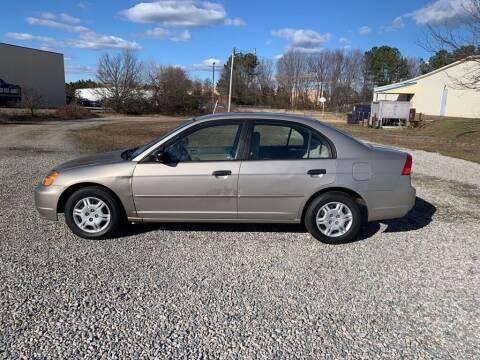 2001 Honda Civic for sale at MEEK MOTORS in North Chesterfield VA