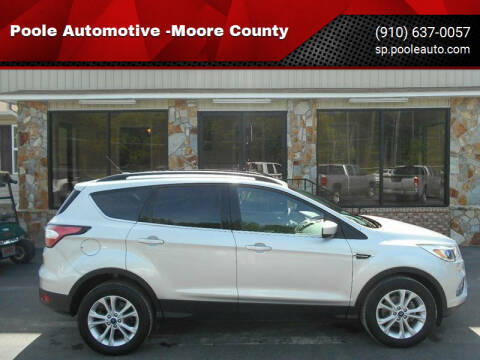 2018 Ford Escape for sale at Poole Automotive in Laurinburg NC