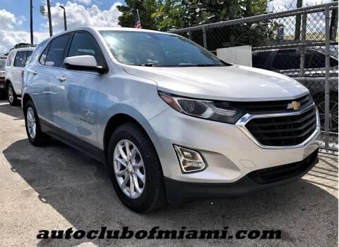 2018 Chevrolet Equinox for sale at AUTO CLUB OF MIAMI, INC in Miami FL