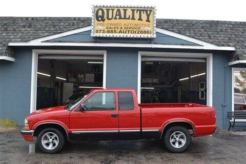 2000 Chevrolet S-10 for sale at Quality Pre-Owned Automotive in Cuba MO