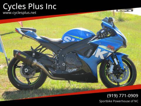 2015 Suzuki GSX-R600 for sale at Cycles Plus Inc in Garner NC