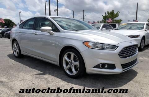 2015 Ford Fusion for sale at AUTO CLUB OF MIAMI in Miami FL