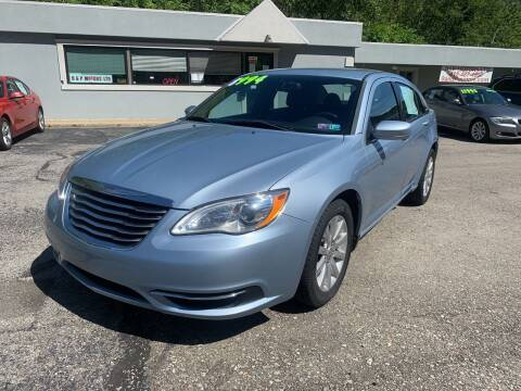 2012 Chrysler 200 for sale at B & P Motors LTD in Glenshaw PA
