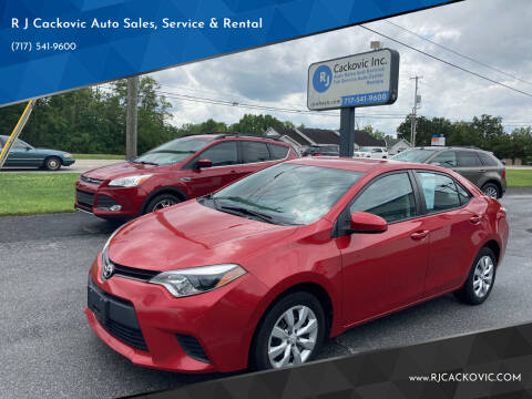 2014 Toyota Corolla for sale at R J Cackovic Auto Sales, Service & Rental in Harrisburg PA