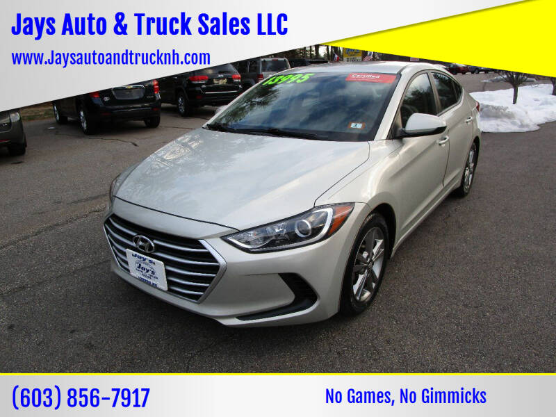 2017 Hyundai Elantra for sale at Jays Auto & Truck Sales LLC in Loudon NH