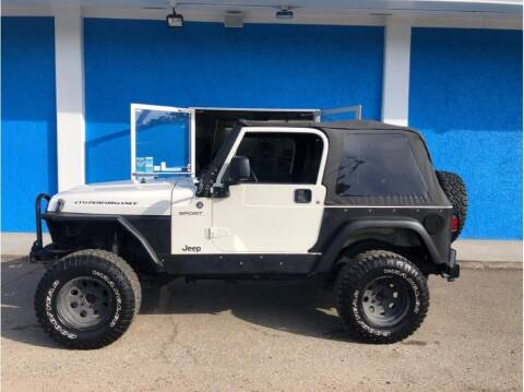 2006 Jeep Wrangler for sale at Khodas Cars in Gilroy CA