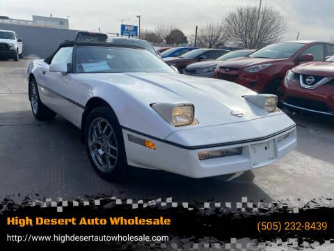 1989 Chevrolet Corvette for sale at High Desert Auto Wholesale in Albuquerque NM