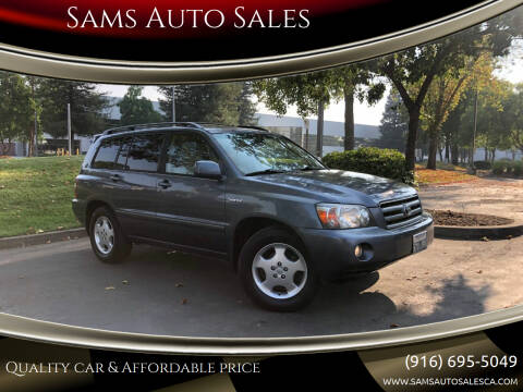 2004 Toyota Highlander for sale at Sams Auto Sales in North Highlands CA