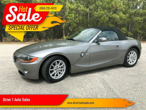 2003 BMW Z4 for sale at Drive 1 Auto Sales in Wake Forest NC