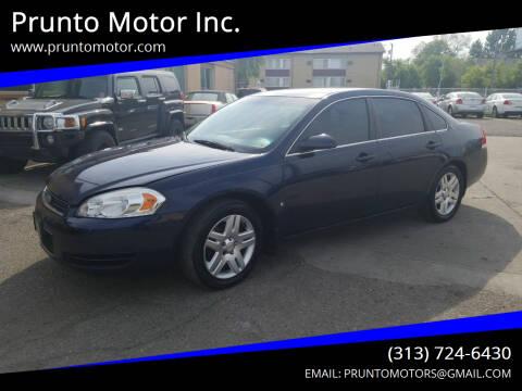 2008 Chevrolet Impala for sale at Prunto Motor Inc. in Dearborn MI