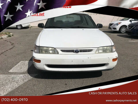 1997 Toyota Corolla for sale at CASH OR PAYMENTS AUTO SALES in Las Vegas NV