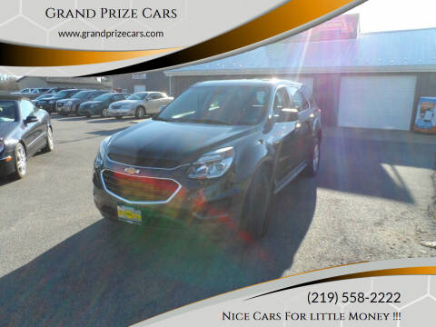 2017 Chevrolet Equinox for sale at Grand Prize Cars in Cedar Lake IN