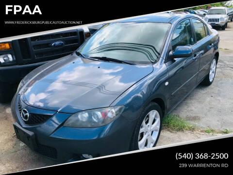 2009 Mazda MAZDA3 for sale at FPAA in Fredericksburg VA