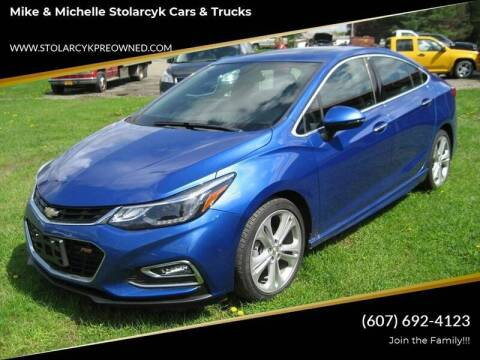 2016 Chevrolet Cruze for sale at Mike and Michelle Stolarcyk Cars and Trucks in Whitney Point NY