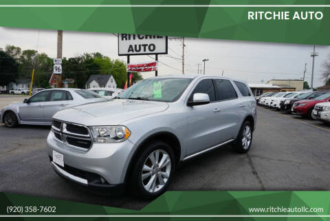 2011 Dodge Durango for sale at Ritchie Auto in Appleton WI