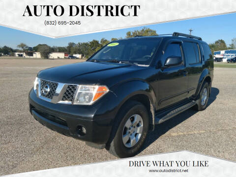 2007 Nissan Pathfinder for sale at Auto District in Baytown TX